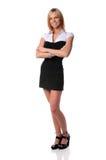 Geschäftsfrau-Stellung Lizenzfreie Stockfotografie