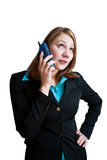 Geschäftsfrau am Telefon 1 Stockbild