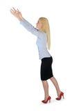 Geschäftsfrau tragen etwas Stockbilder