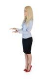 Geschäftsfrau tragen etwas Lizenzfreie Stockbilder