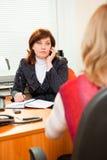 Geschäftsfrau trifft sich Lizenzfreie Stockfotos