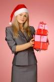 Geschäftsfrau u. Geschenke Lizenzfreie Stockfotografie