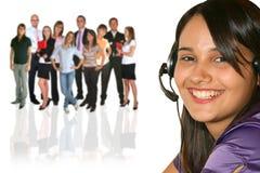Geschäftsfrau und businessteam stockfoto