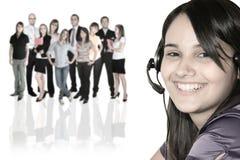 Geschäftsfrau und businessteam lizenzfreies stockfoto