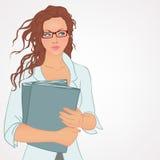 Geschäftsfrau und eine große Gruppe Geschäftsleute Personaler wählt den Angestellten Lizenzfreie Stockfotografie