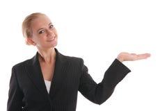 Geschäftsfrau und eine Palme lizenzfreie stockbilder