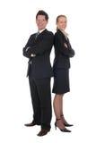 Geschäftsfrau und Geschäftsmann Lizenzfreies Stockfoto