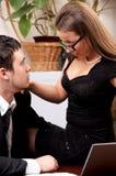 Geschäftsfrau und Geschäftsmann Stockbild