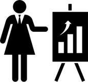 Geschäftsfrau und Grafik Stockfoto