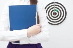 Geschäftsfrau und gutes Ergebnis Stockfotos