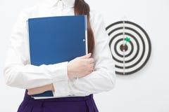 Geschäftsfrau und gutes Ergebnis Lizenzfreie Stockbilder