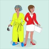 Geschäftsfrau und Hausfrau stock abbildung
