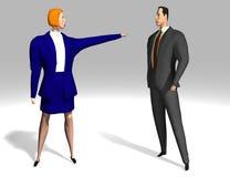 Geschäftsfrau und Mann Stockfotos