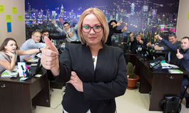 Geschäftsfrau und Personal von Angestellten Lizenzfreie Stockfotos