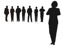 Geschäftsfrau und Team Lizenzfreie Stockfotografie