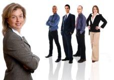 Geschäftsfrau und Team Stockfoto