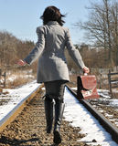 Geschäftsfrau unterwegs Stockbild