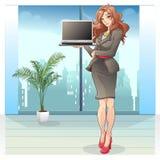 Geschäftsfrau-Vektor-Illustration Stockfotos