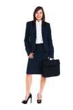 Geschäftsfrau in voller Länge stockbild