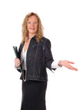 Geschäftsfrau, welche die Weise zeigt Stockfotografie