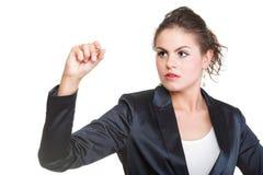Geschäftsfrau zeichnet lizenzfreies stockfoto