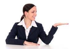 Geschäftsfrau-Zeigen Lizenzfreie Stockfotografie