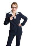 Geschäftsfrau-Zeigen Stockbild