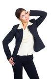 Geschäftsfrauaufwartung Lizenzfreie Stockfotos