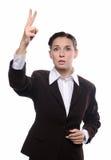 Geschäftsfraubieten Stockfotos