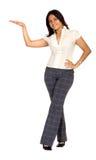 Geschäftsfraubildschirmanzeige Lizenzfreie Stockfotos