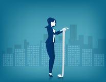Geschäftsfrauen, die Blatt Papier lesen Stockfoto