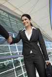 Geschäftsfrauen, die sich grüßen Lizenzfreies Stockbild