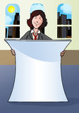 Geschäftsfraufahne Stockfoto