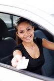 Geschäftsfraufahren Lizenzfreie Stockfotografie