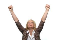 Geschäftsfraufeiern Stockbilder