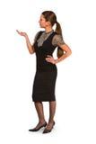 Geschäftsfraugestikulieren Lizenzfreies Stockfoto