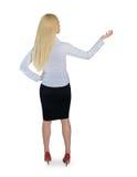 Geschäftsfraugriff etwas Lizenzfreies Stockfoto