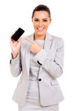 Geschäftsfrauhandy stockfoto