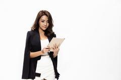 Geschäftsfrauholding und -funktion Stockfoto