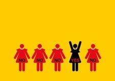 Geschäftsfrauinterviewauswahl Stockbild