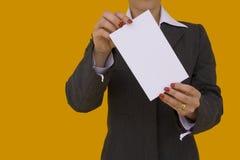 Geschäftsfraukarte 2 Lizenzfreie Stockfotografie