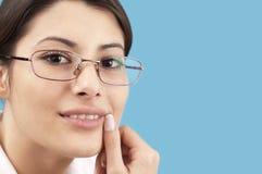 Geschäftsfraulächeln Lizenzfreies Stockbild