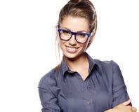 Geschäftsfraulächeln stockfoto