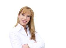 Geschäftsfraulächeln lizenzfreie stockfotos