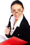 Geschäftsfraulächeln. lizenzfreie stockbilder