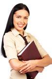 Geschäftsfraulächeln. stockfoto