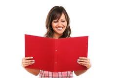 Geschäftsfraulesedokumente Lizenzfreies Stockfoto