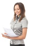 Geschäftsfraumesswert Lizenzfreie Stockbilder