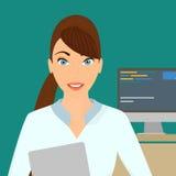 Geschäftsfraunahaufnahme Stockfoto