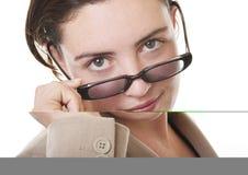 Geschäftsfraunahaufnahme stockfotos